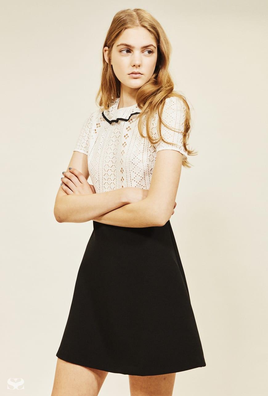 ASOS two-tone short sleeve mini dress.