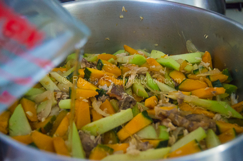 Sautéed Chayote and Squash With Shredded Fish (Ginisang Sayote at Kalabasa) 14