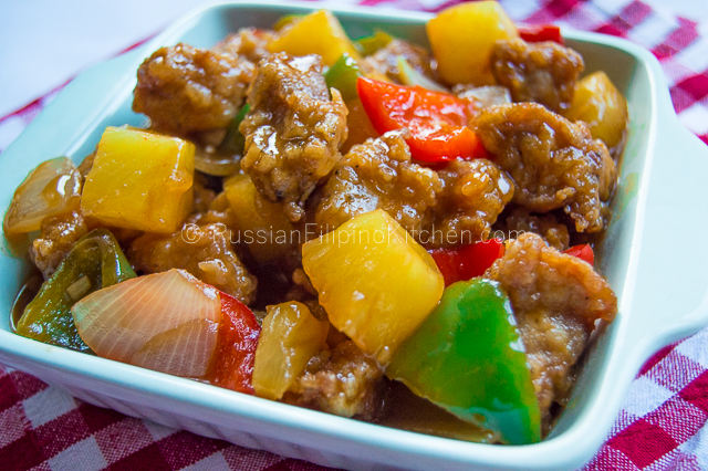 Sweet and sour pork recipe russian filipino kitchen for Sweet and sour fish recipe