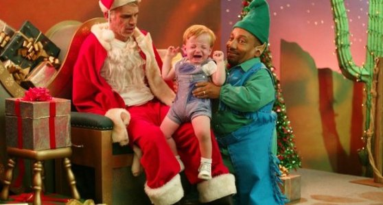 bad santa midget dwarf movie capture still kid lap