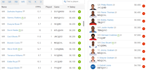 fanduel screengrabs gambling football