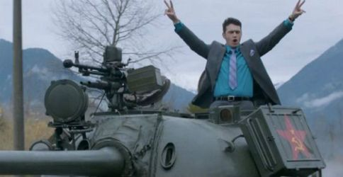 """James Franco in the music video for The Lonely's Islands follow up song: """"I'm on a Tank"""""""