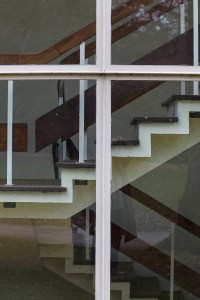 Self Portrait, reflections with stairs