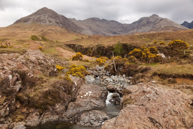 Allt Coire Na Banachdich With The Cuillins