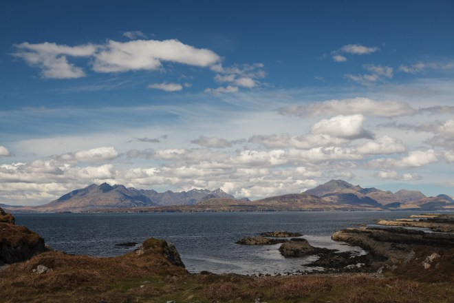Cuillins And White Clouds