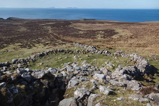 View From Dun Borrafiag Towards North Uist