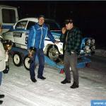 Savitaipale Historic -ralli 2001. Yleiskisan toinen. Maalissa. Kuljettaja: Tomi Tikanmäki