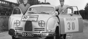 Simo Lampinen ja 500-ralli vuonna 1961. Kuva: Mobilistin arkisto.