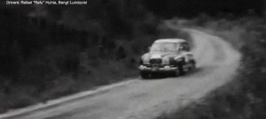 Rafu Huhta driving the Saab Sport at the 1966 Rally Of The 1000 Lakes.