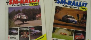 SM rallien katsojaoppaat 1995 ja 1996