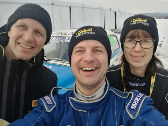 Some rallycrazy in same photo: Rally World Champion Petter Solberg and BlueWhite drivers