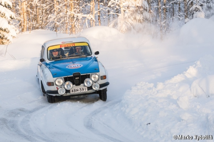 Training with reblica before Rally Sweden Historic. Nice photo by Marko Kyöstilä from Kangasniemi rally.