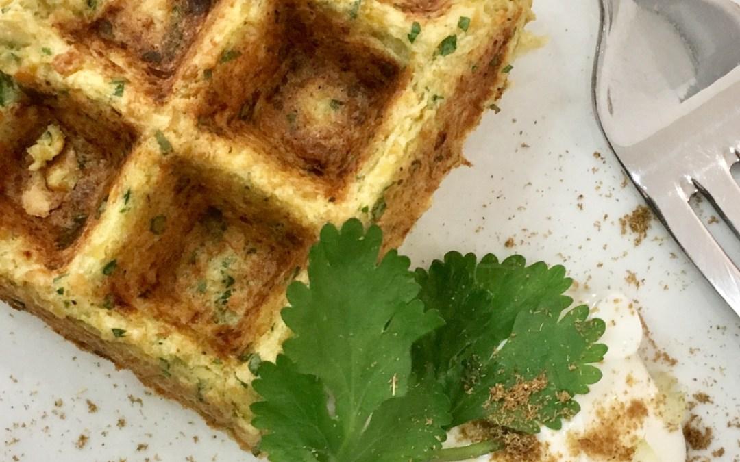 Falafel waffles saludables