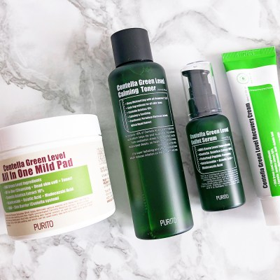 korean skin care routine summer_purito_centella green line