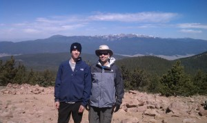 John Sadler Jr. and John Sadler on the summit of Mt. Philmont