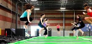Trampoline aerobics