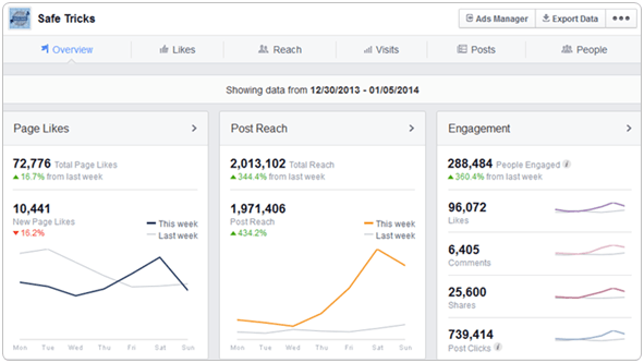 facebook page insight overview