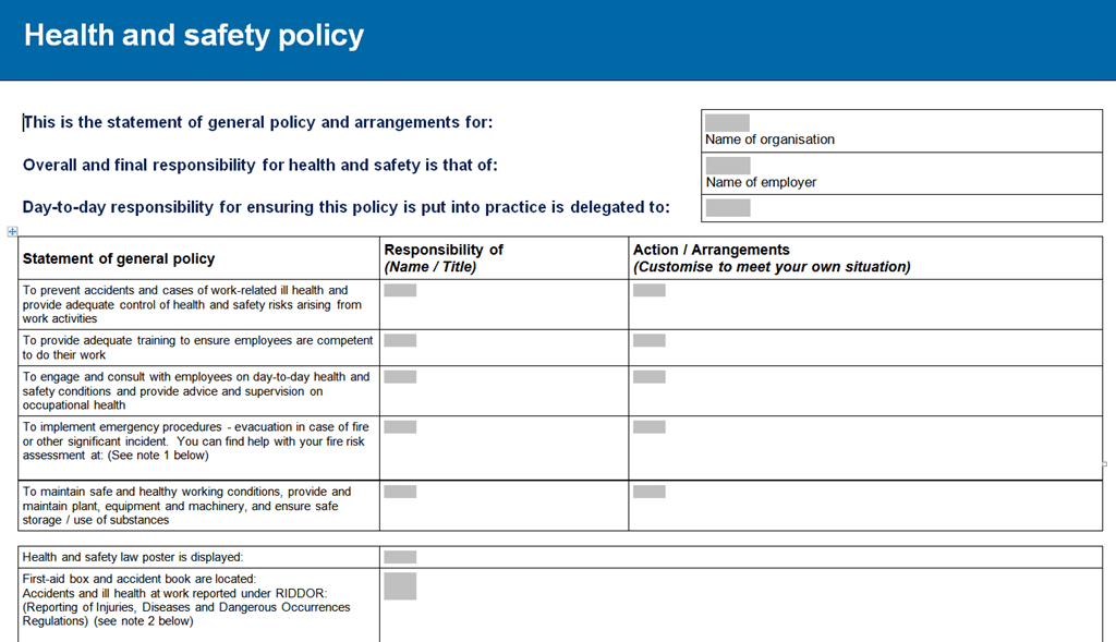 Fleetsafe Policy Ehs Policy Statement Example And Iso 9001 Quality ...