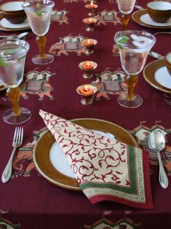 indian elephant tablecloth