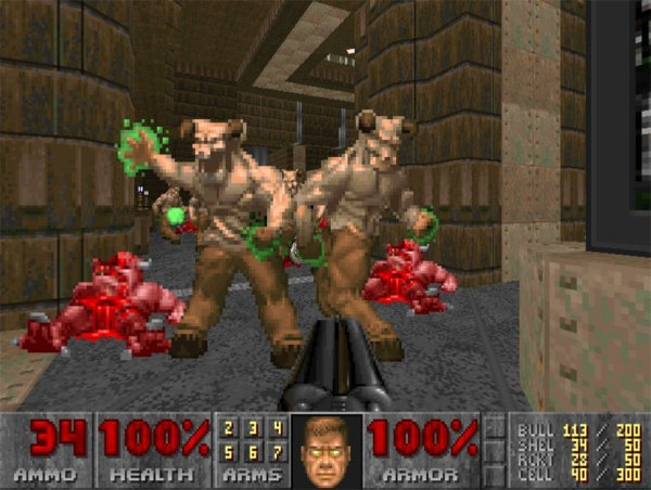 The ID cheats in action in Doom.