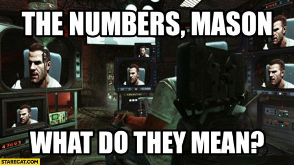What do the numbers mean quote from Call of Duty: Black Ops