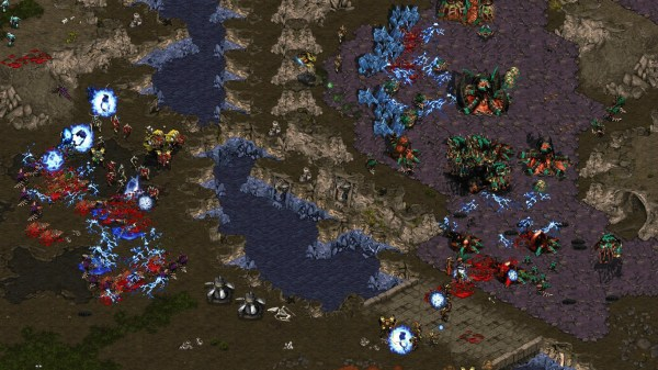 Power Overwhelming in action in StarCraft.