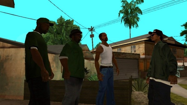 GTA San Andreas with the gang screenshot