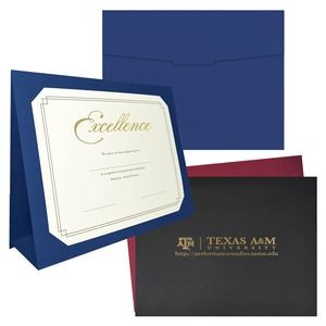 Certificates are a perfect way to recognize employees' accomplishments. The holder features a large area to display a company logo.