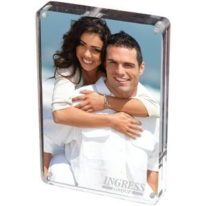Keep memories in an acrylic frame for a fun conversation starter or way to make your office more comfortable.