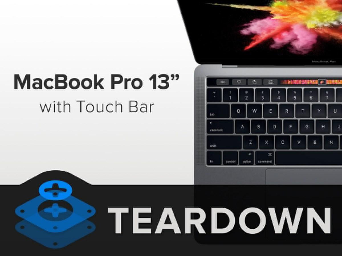 Il teardown del MacBook Pro con Touch Bar conferma l'SSD non sostituibile