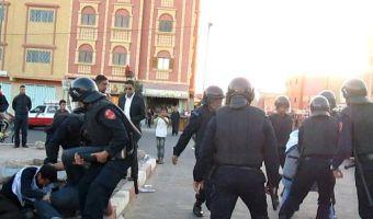 قمع الاحتلال المغربي للمعطلين الصحراويين