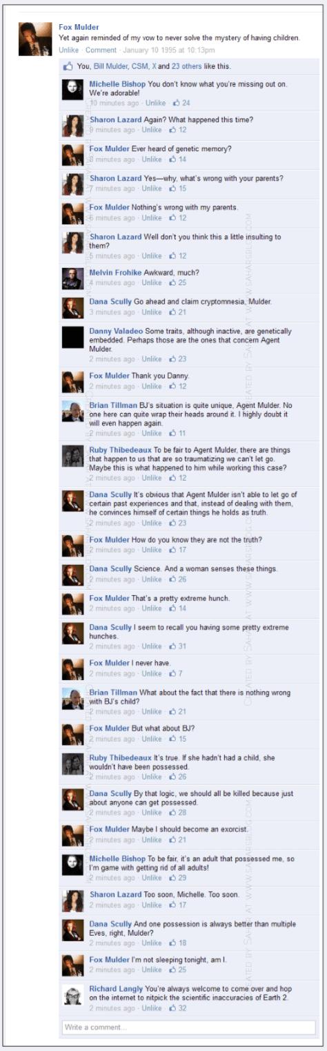 The X-Files Facebook Project on Sahar's Blog s02e12 Aubrey