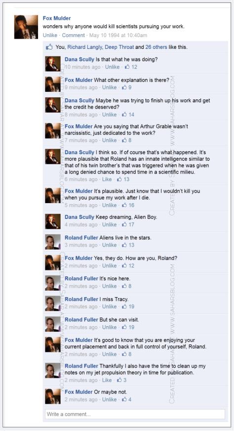 The X-Files Facebook Project on Sahar's Blogs 01e23 Roland