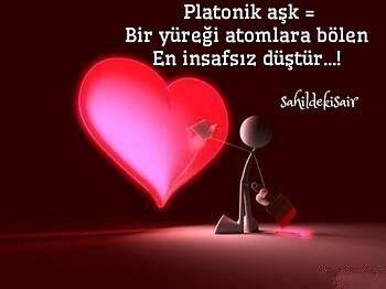 Platonik aşk Bir yüreği atomlara bölen En insafsız düştür...