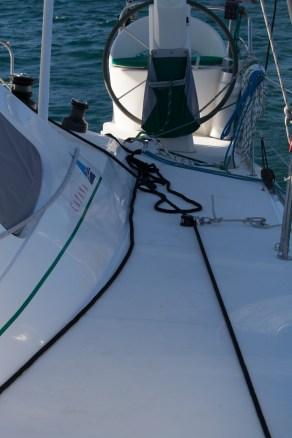 To the windlass