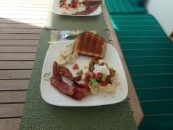 Laura cooked breakfast, yum!