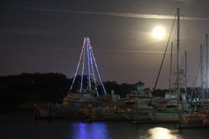 Footloose Lights Up Marina