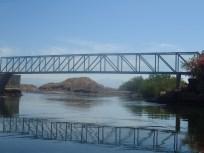 Back under the bridge, lagoon tour end
