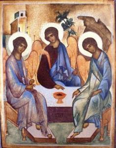 Trinity, Andrei Rublev, 1410
