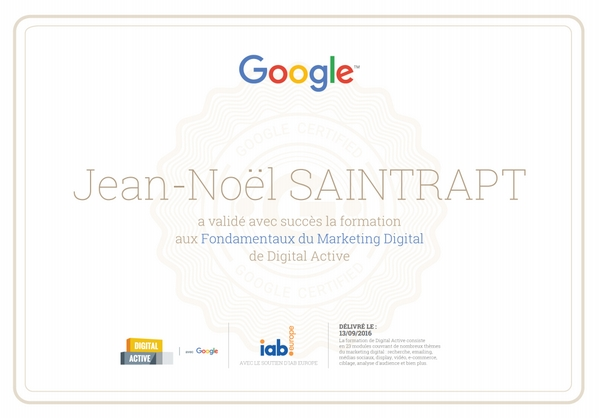"Certification Google ""Marketing Digital"""
