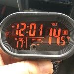 ジムニーに見やすい時計を(JB23-1型 時計+気温計+電圧計)