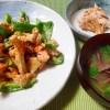 初めて食べるきのこ(カノシタのマヨ醤油炒め、ホウキタケのワサビ醤油他)