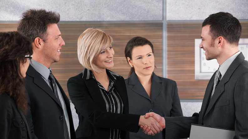 Successful Networkers Shaking Hands