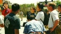 Filming in Beijing