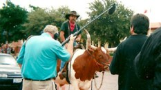 Filming Longhorn Riders in Texas