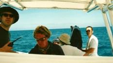 Speedboat filming on Necker Island