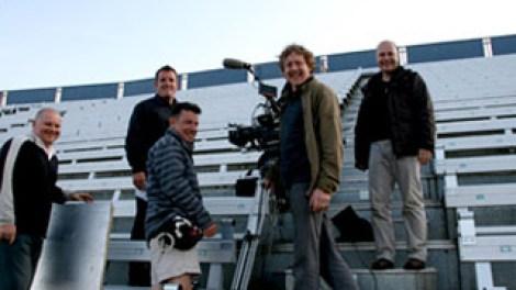 Filming at Rockingham