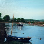 Ethel in harbour - Cockwood oil e pic