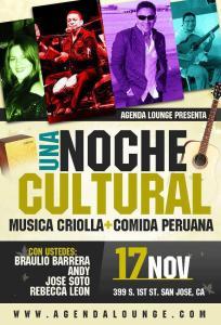 Noche Cultural Agenda