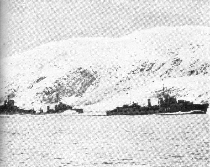 The RN enter the Fjord...
